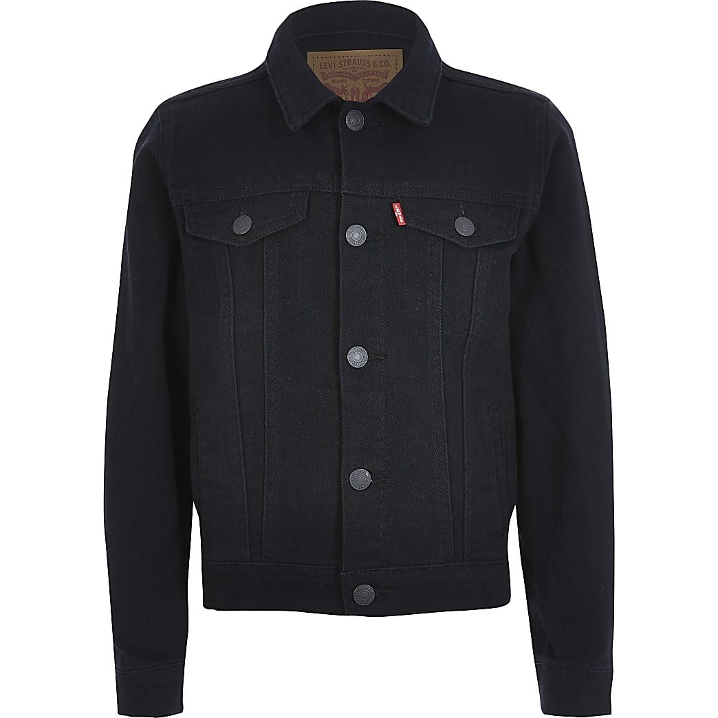 Levi's – Schwarze Jeansjacke für Jungen