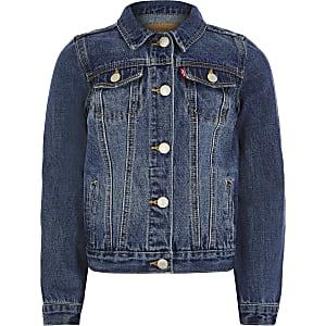 Levi's – Trucker-Jacke aus dunklem Jeansstoff für Jungen
