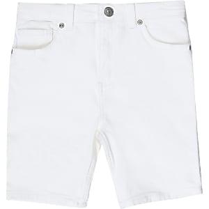 Sid – Short en denim skinny blanc pour garçon