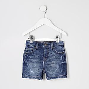 Blaue Dylan – Jeansshorts im Used-Look für kleine Jungen