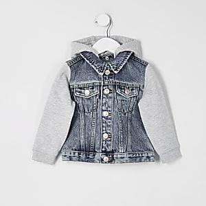 Mini – Prolific – Blaue Jeansjacke mit Kapuze