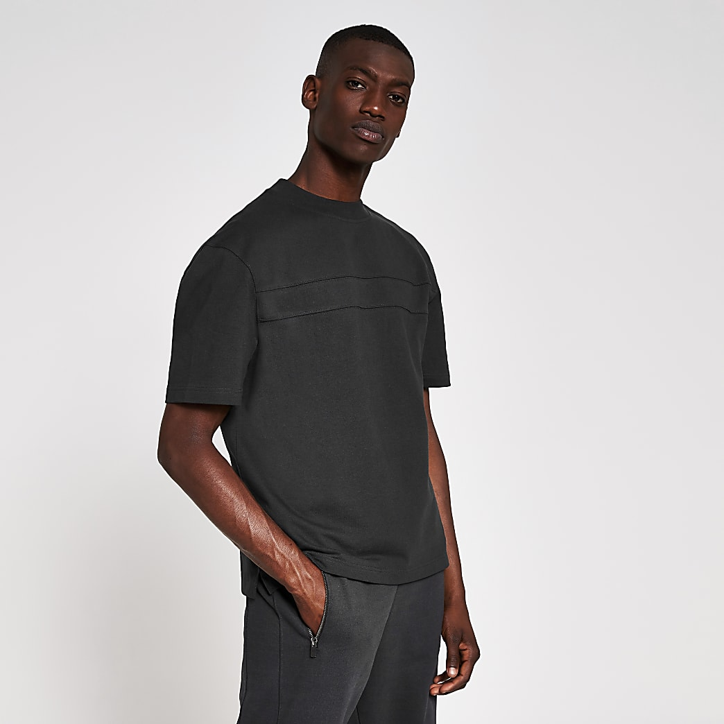 10003° premium washed black boxy fit T-shirt
