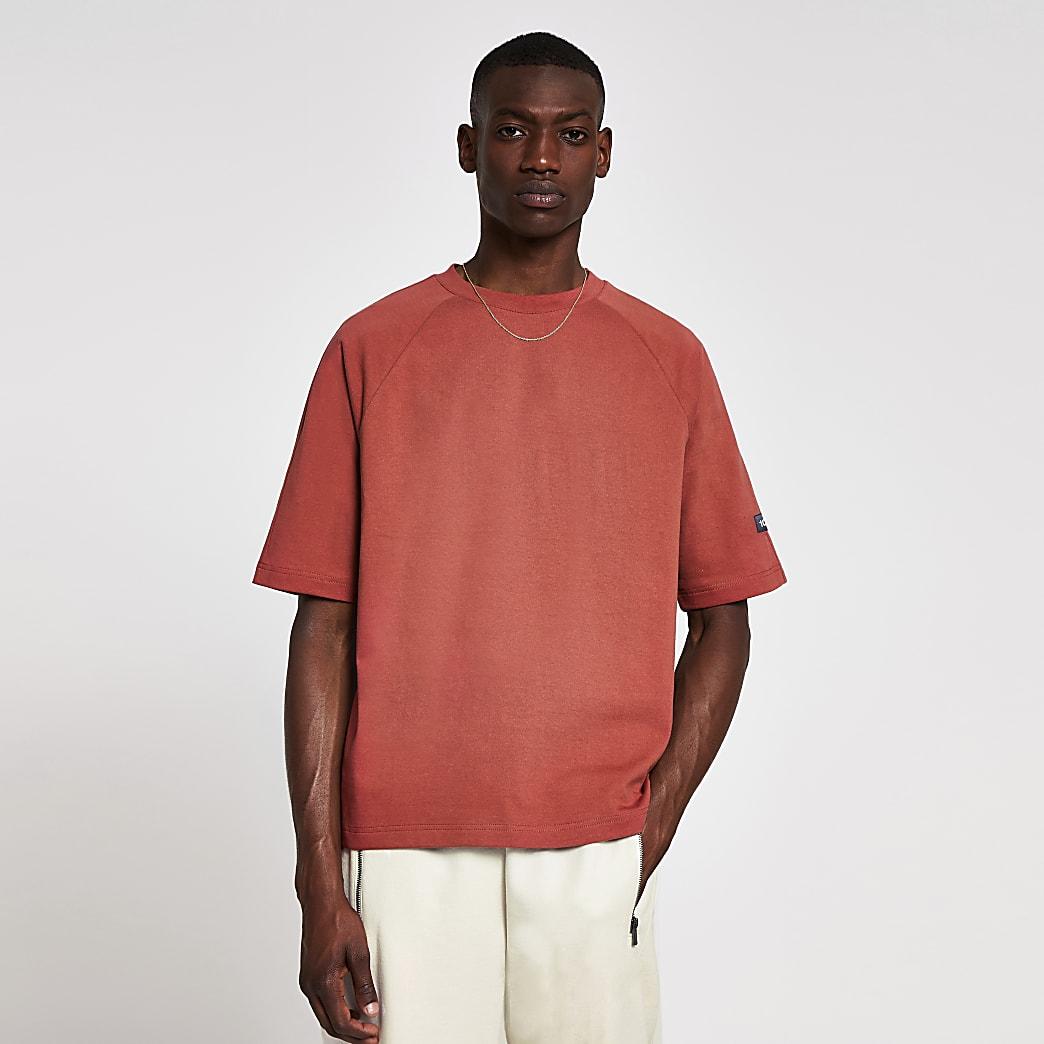 10003° premium washed clay boxy raglan tshirt
