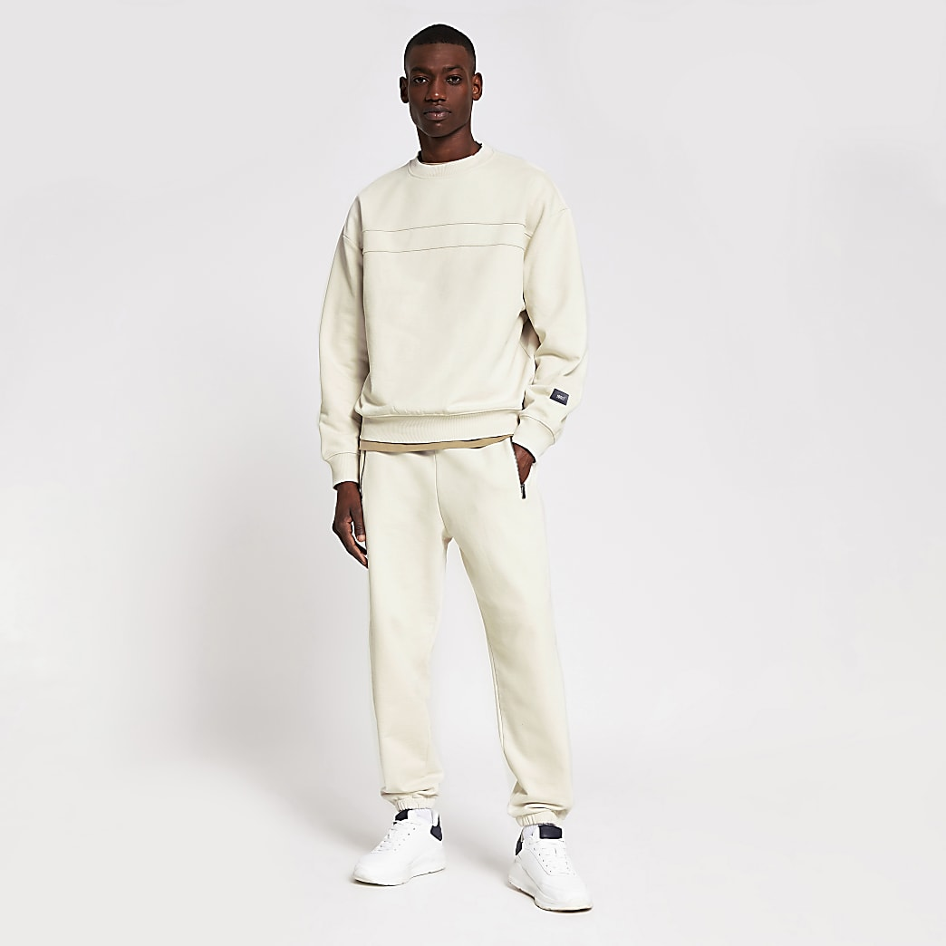 10003° premium washed stone boxy sweatshirt