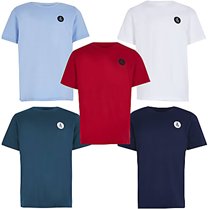 13+ Boys red RVR t-shirts 5 pack