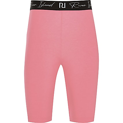 13+ girls pink RI waistband cycling short