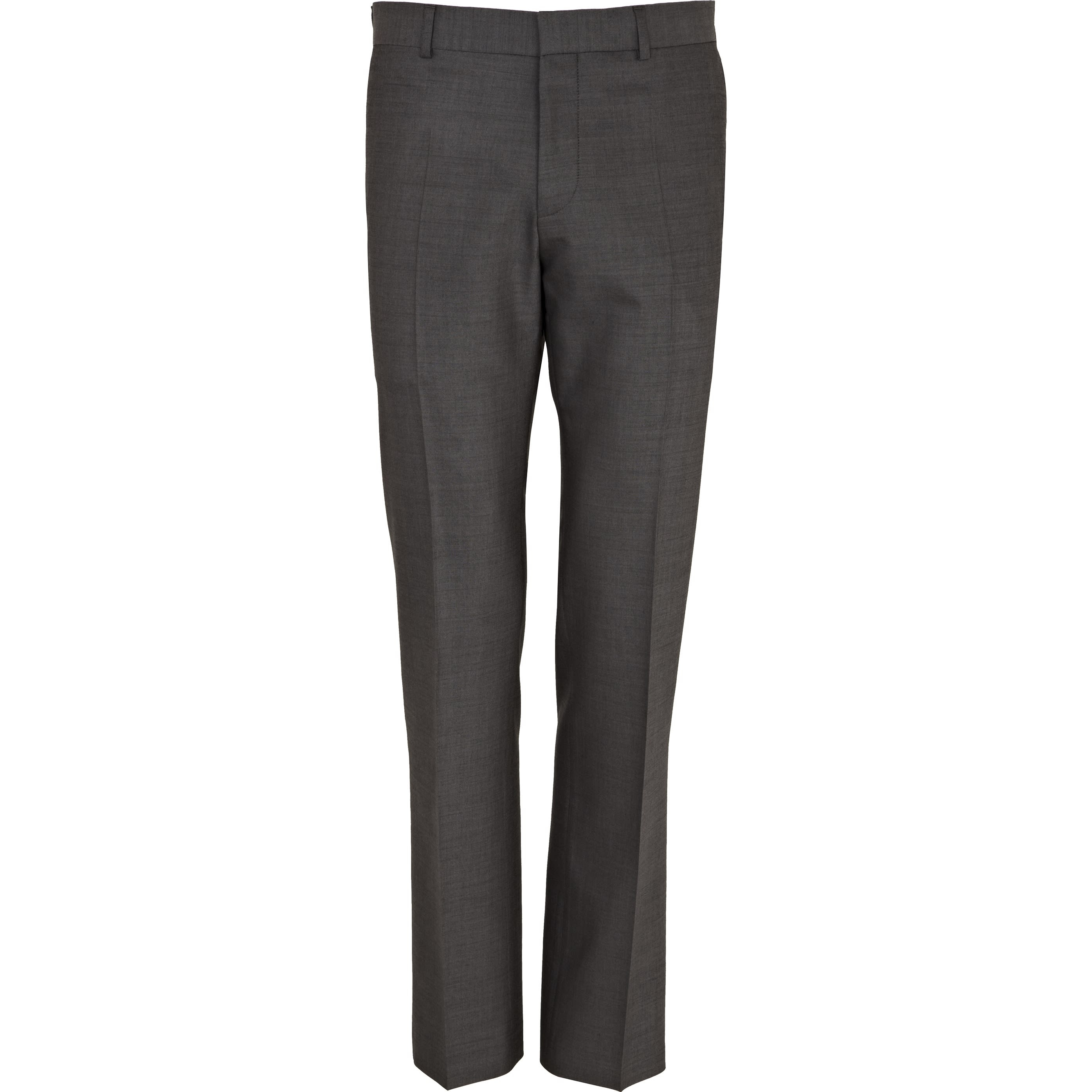 RIVER ISLAND | Mens Grey wool-blend slim suit trousers | Goxip