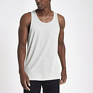 Ecru scoop neck vest top