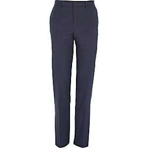 Dark blue slim suit pants
