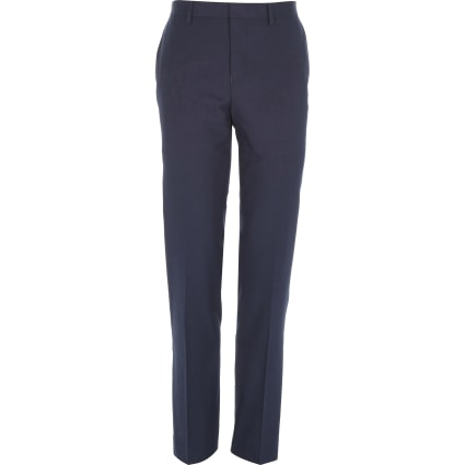 Dark blue slim suit trousers