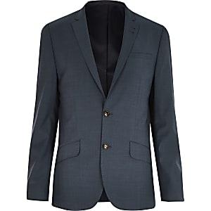 Green slim suit jacket