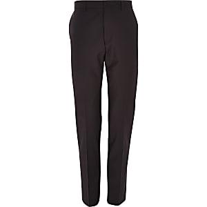 Pantalon de costume slim en laine mélangée violette