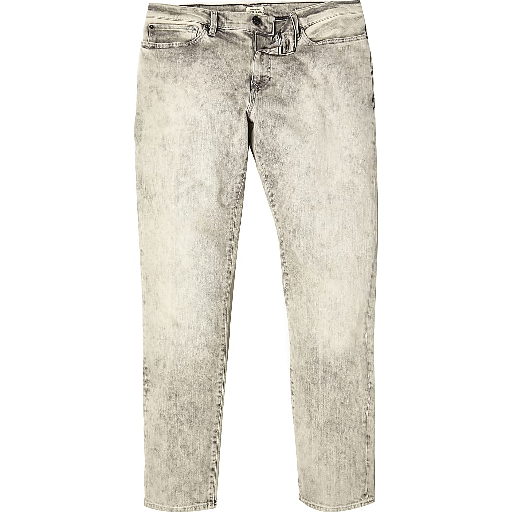 Mottled grey Dylan slim jeans