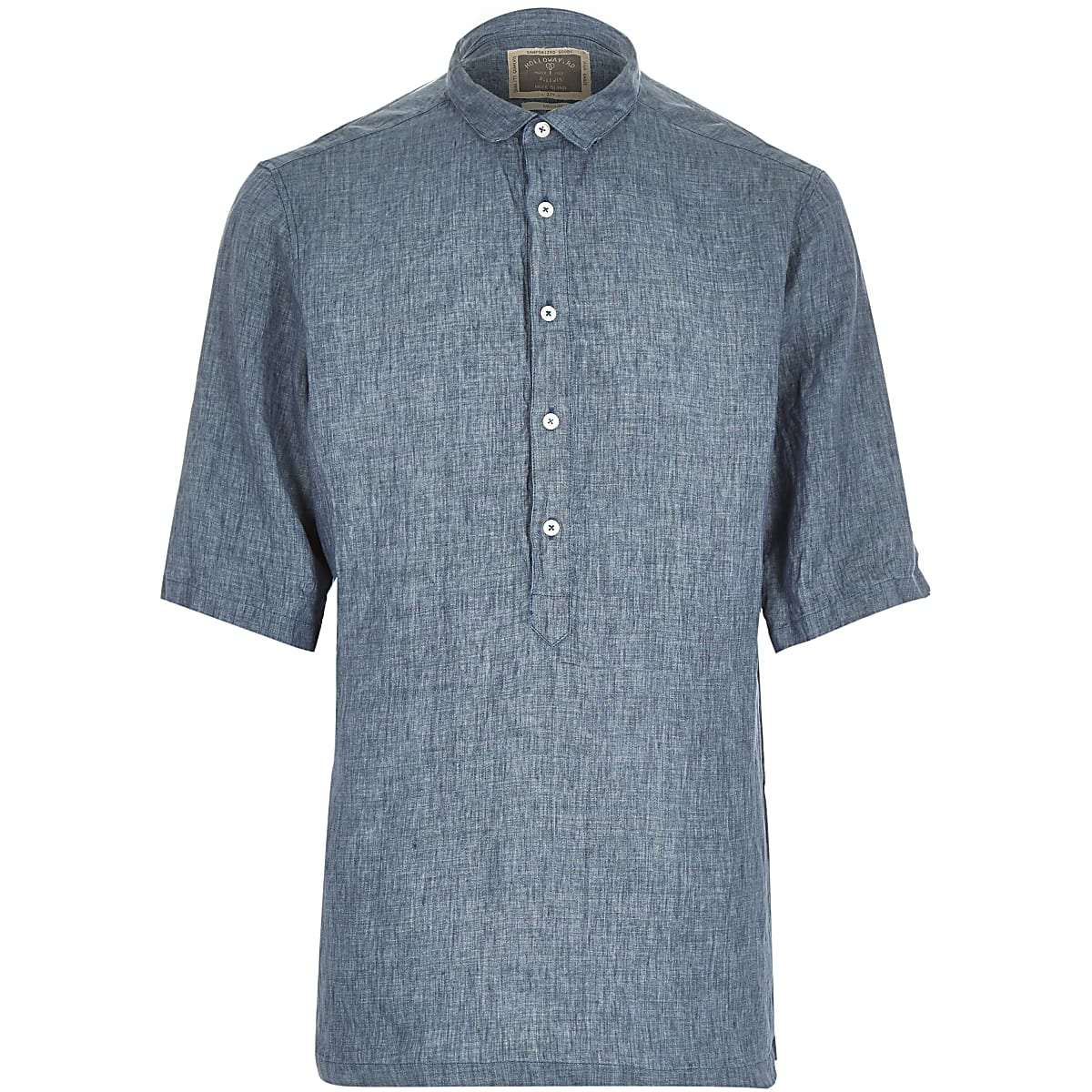 Green Holloway Road linen shirt