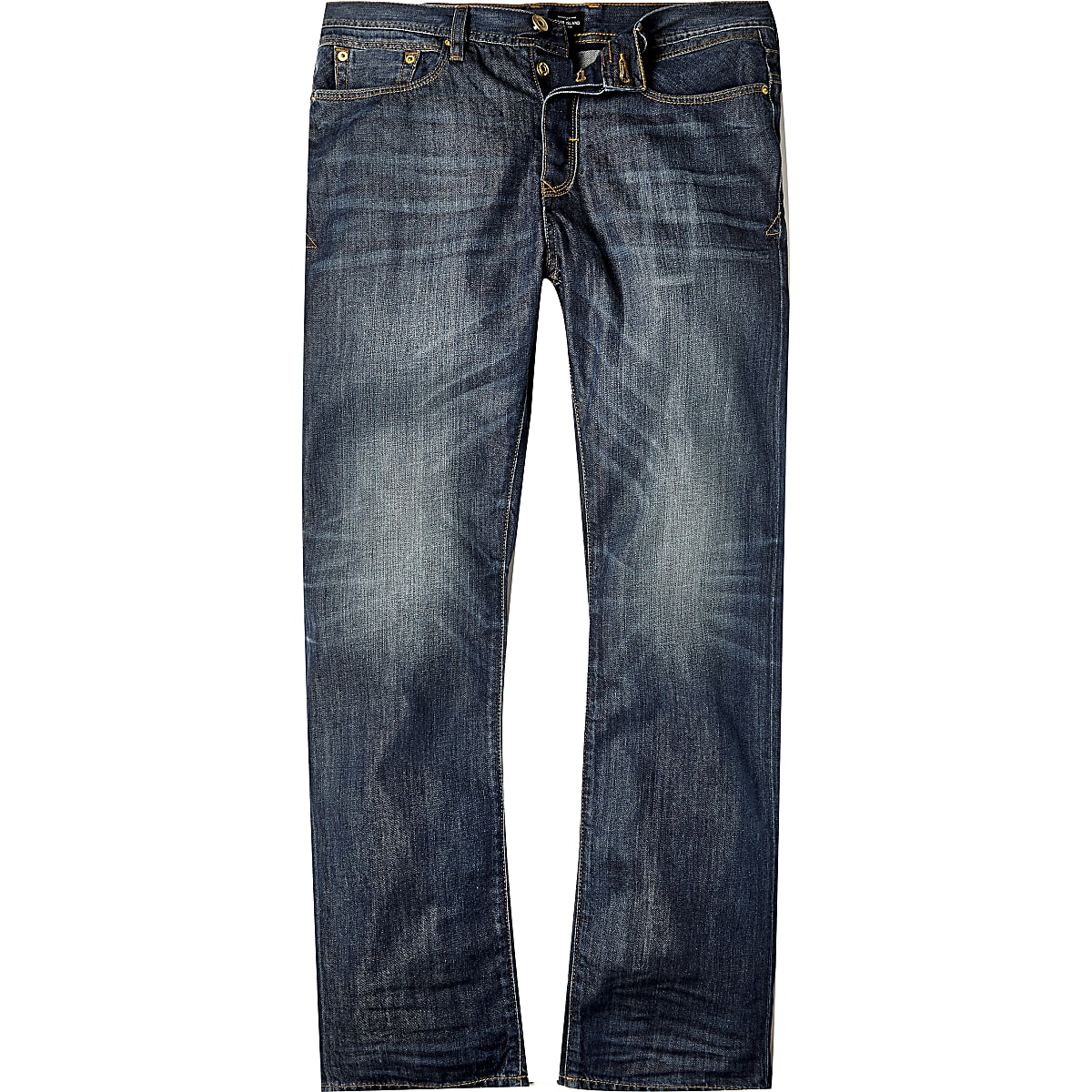 Dark blue wash Dean straight jeans