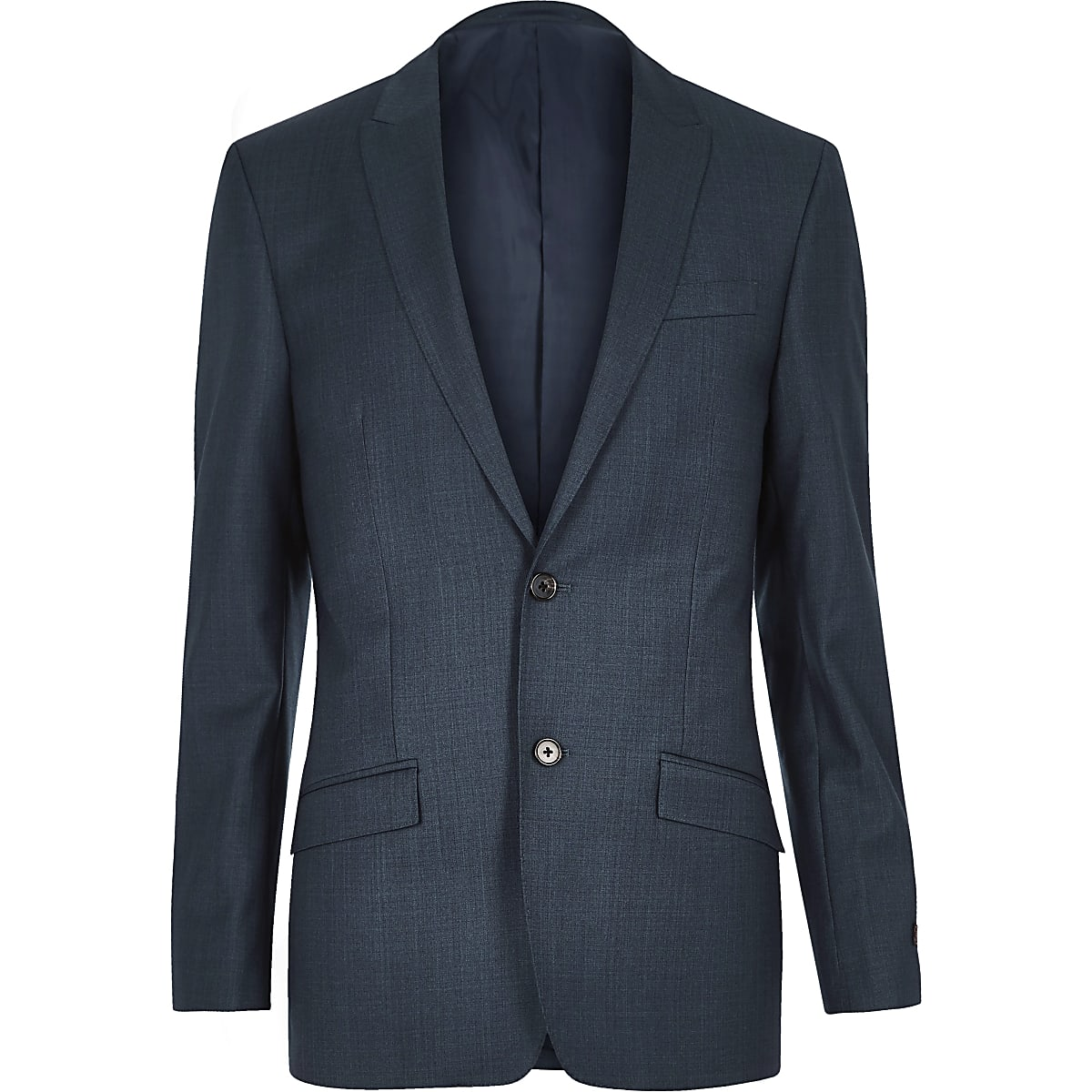 Petrol blue slim blazer