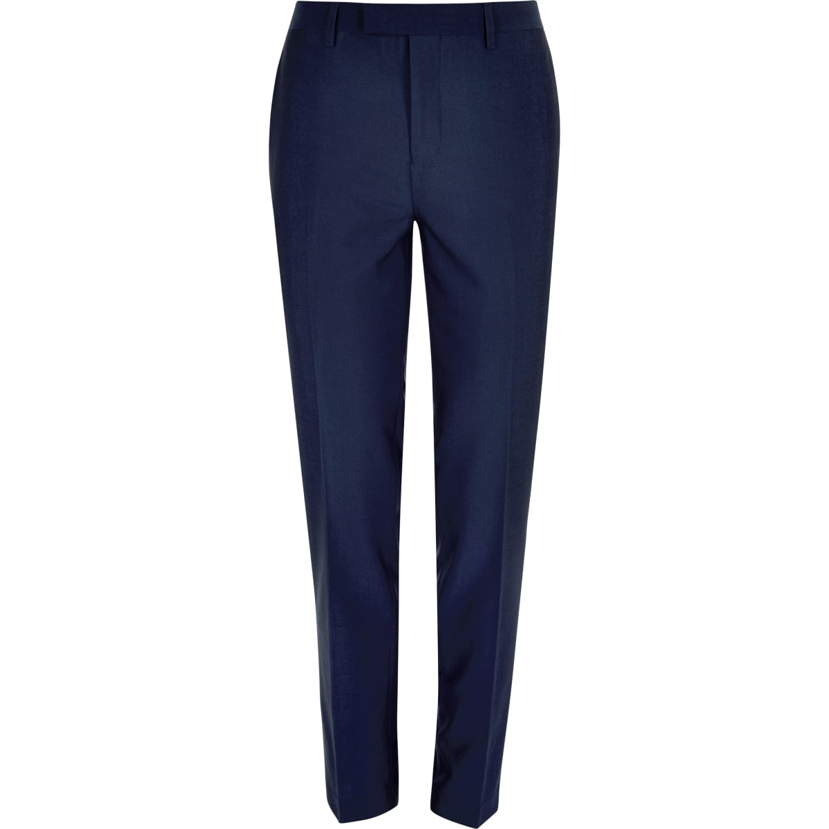 Bright blue slim suit trousers