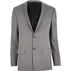 Light grey slim suit jacket