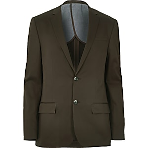 Dark green skinny suit jacket