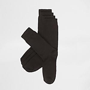 5 paar effen zwarte sokken