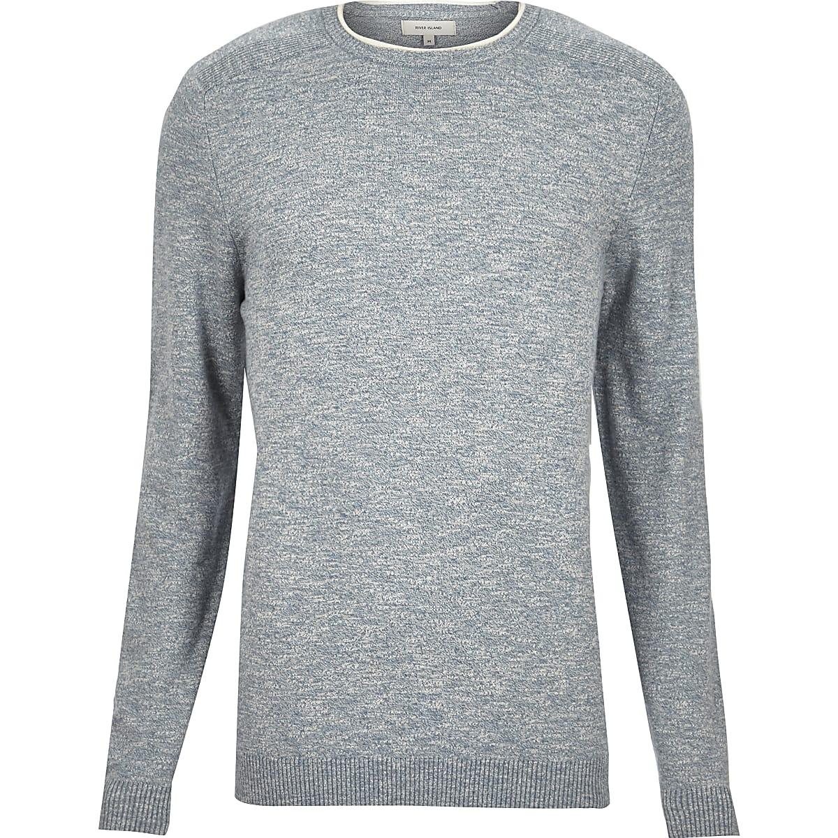 Light blue crew neck sweater