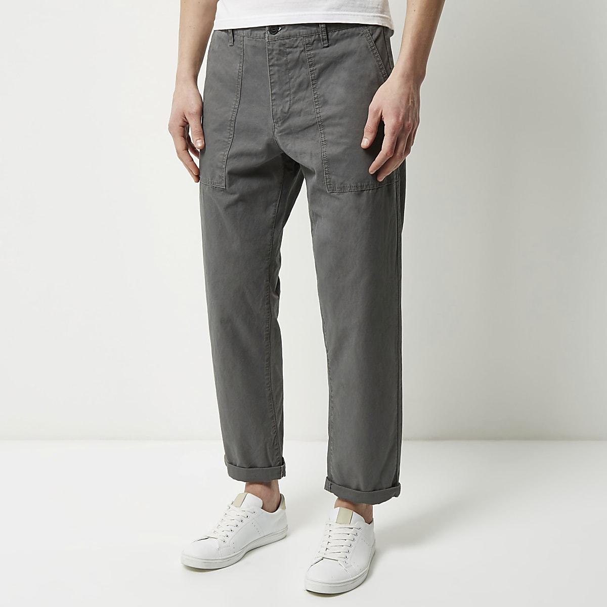 Grey wide leg pants
