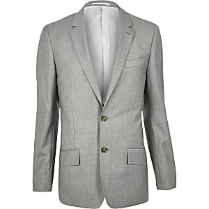 Grey slim suit jackets