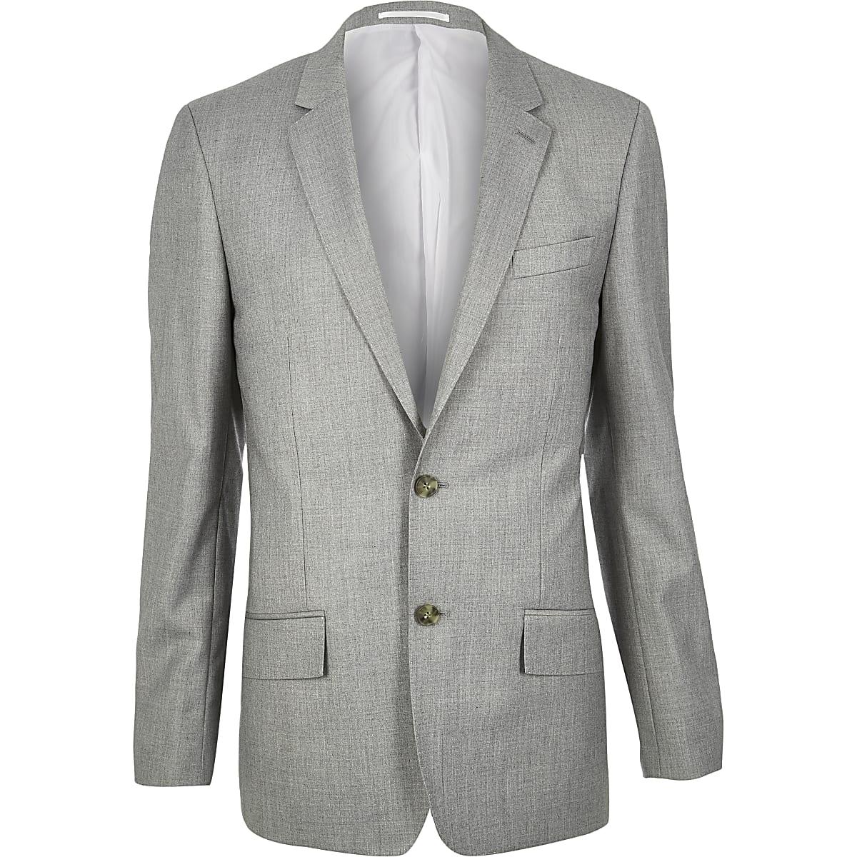 Grey slim suit jackets
