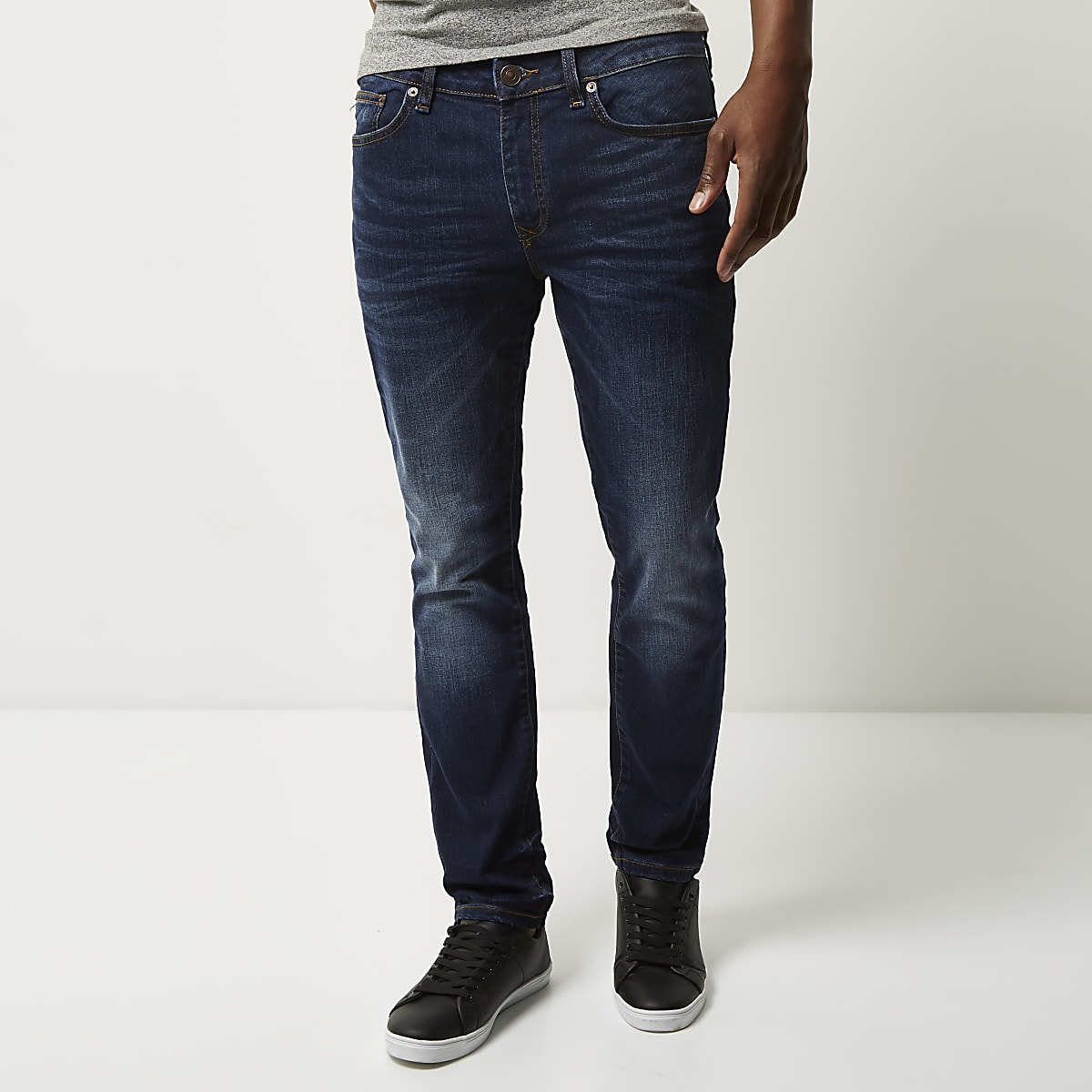 0698e1eb0a Dark blue wash Dylan slim fit jeans