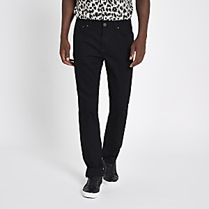 Black Seth slim fit denim jeans