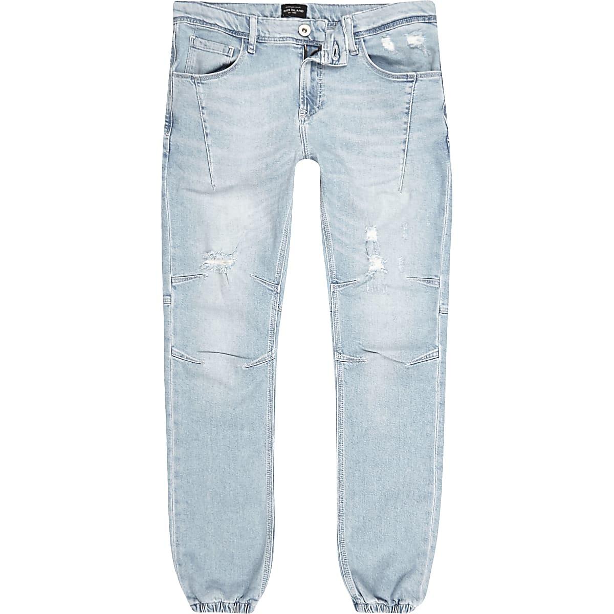 Light blue bleach Ryan jogger jeans