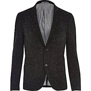 Black Vito textured blazer
