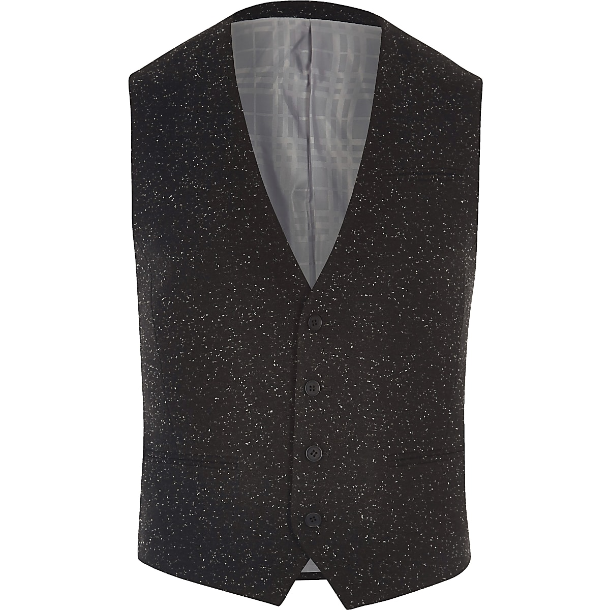 Black textured Vito vest