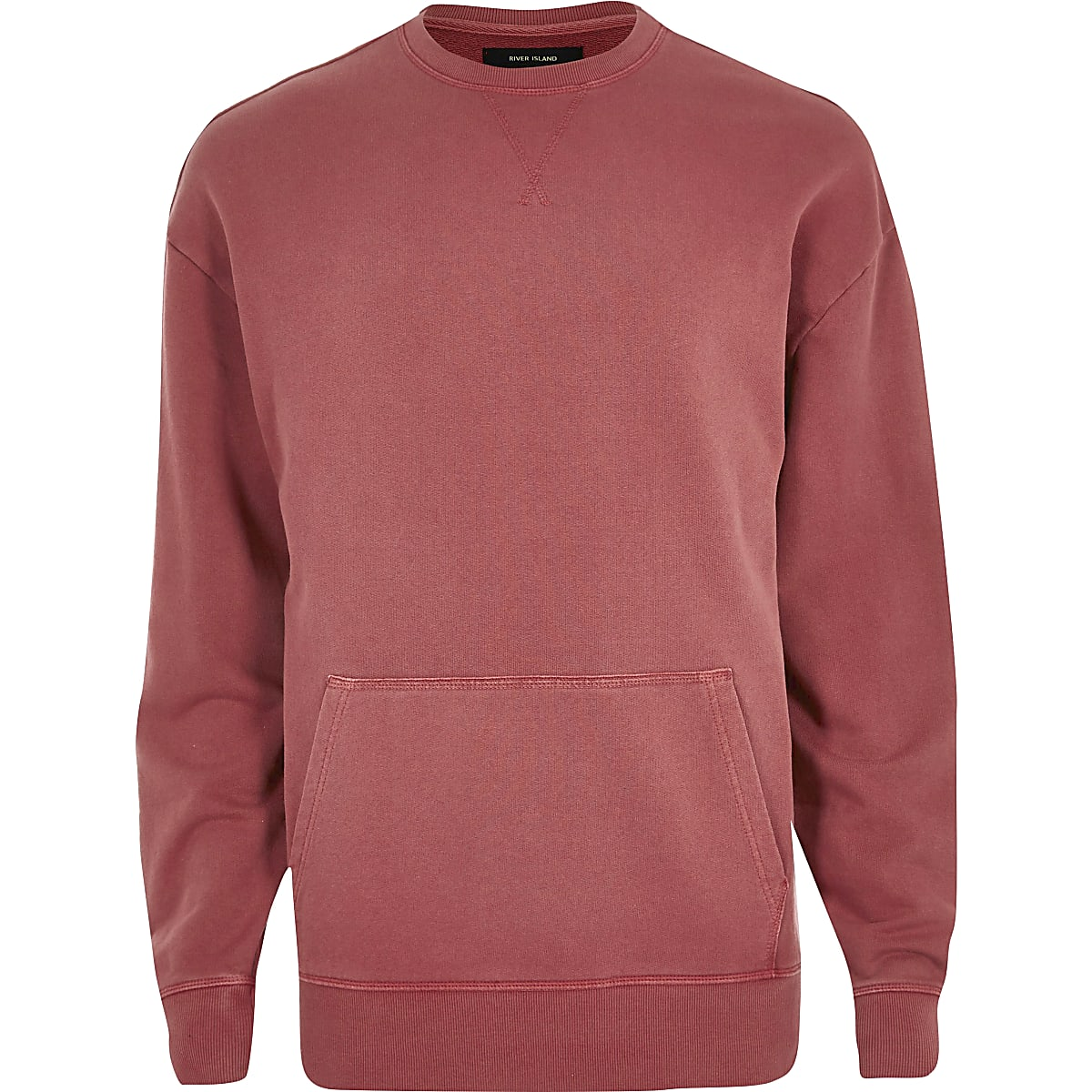 Red pocket sweatshirt