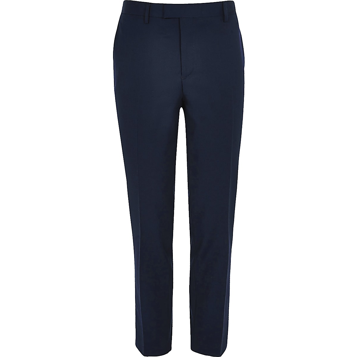 Navy smart skinny suit trousers