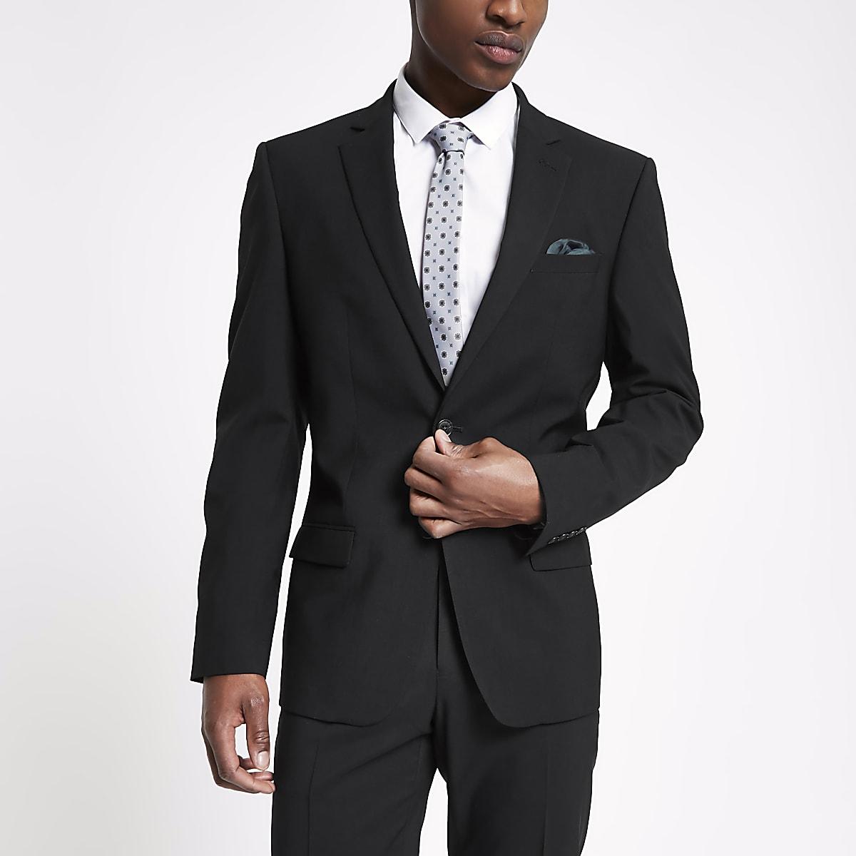 Zwart tailored-fit colbert
