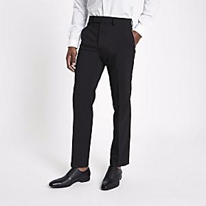 Pantalon de costume ajusté noir
