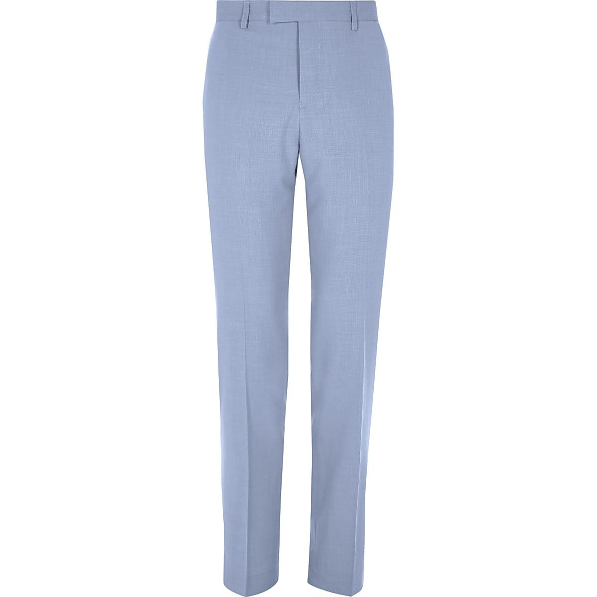 Blue slim fit suit pants