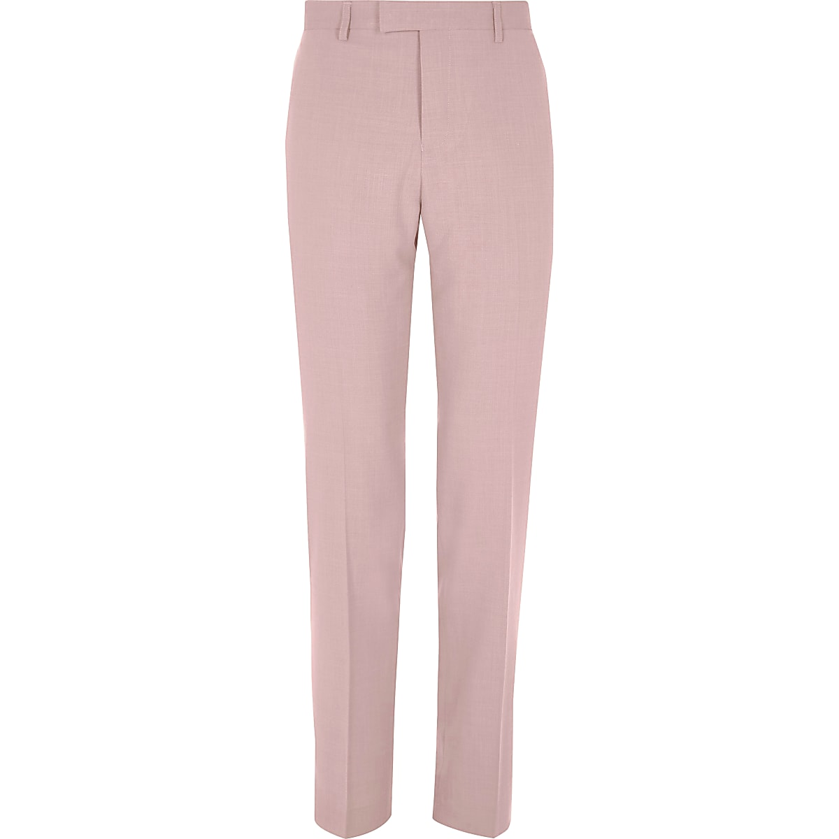 Pink slim fit suit trousers