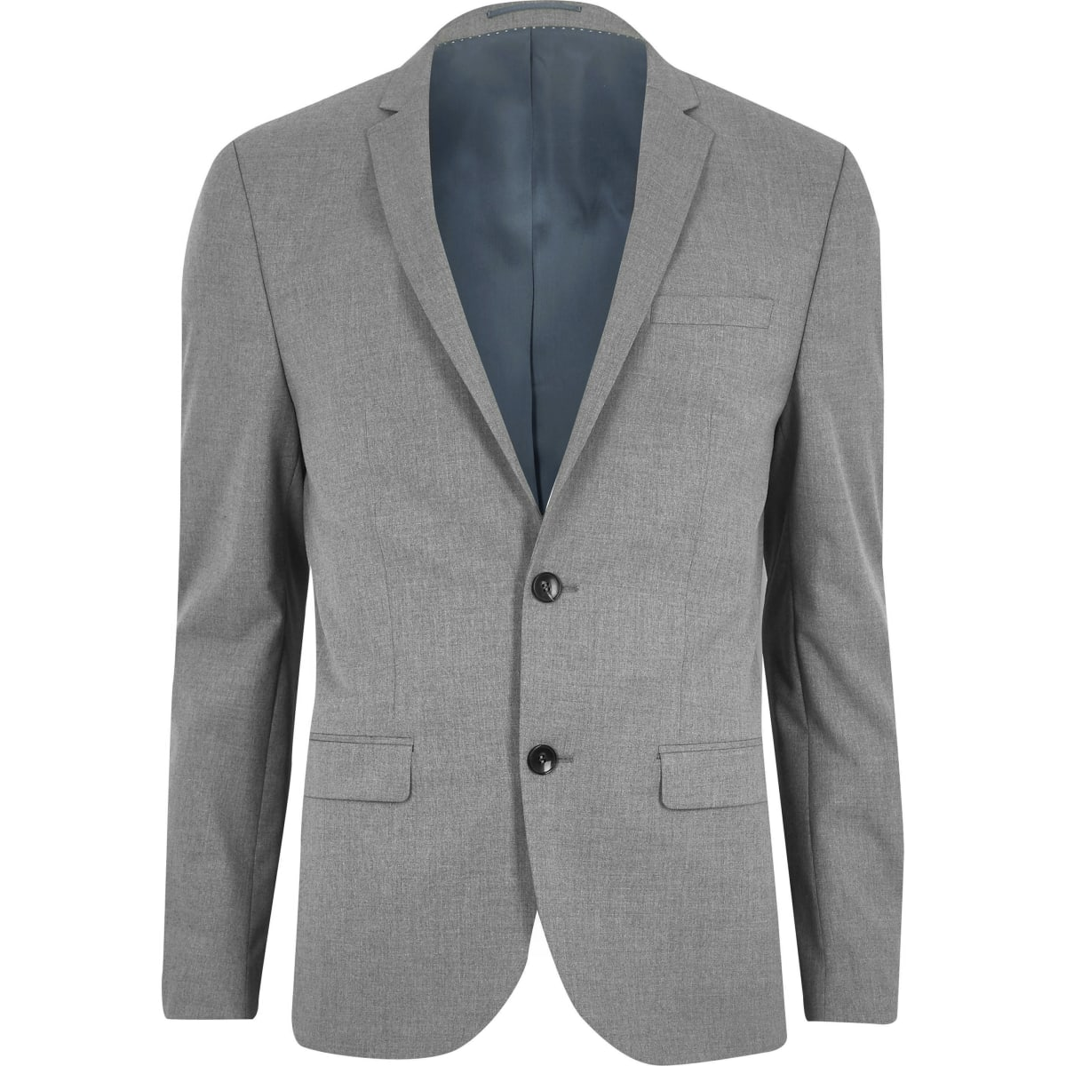 Light grey skinny fit suit jacket