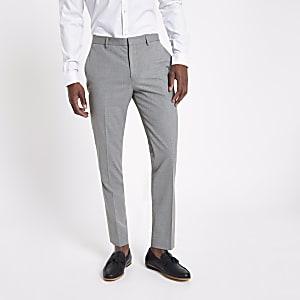 Grey slim fit smart suit trousers