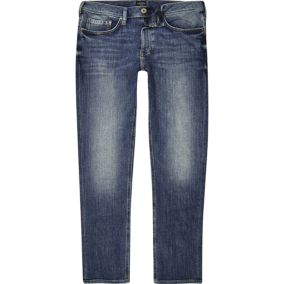 Mid blue wash slim fit Dylan jeans