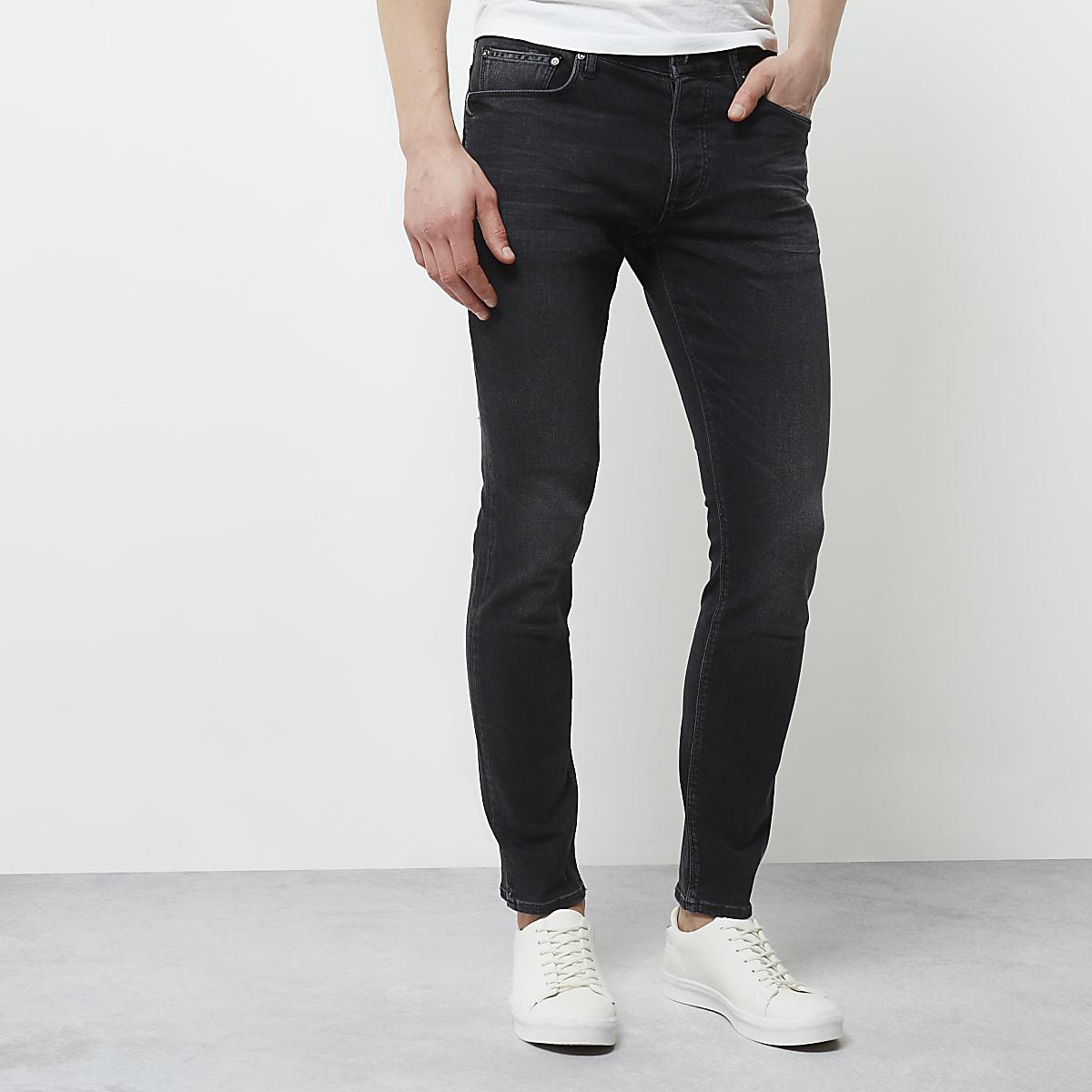 Black faded skinny fit Sid jeans