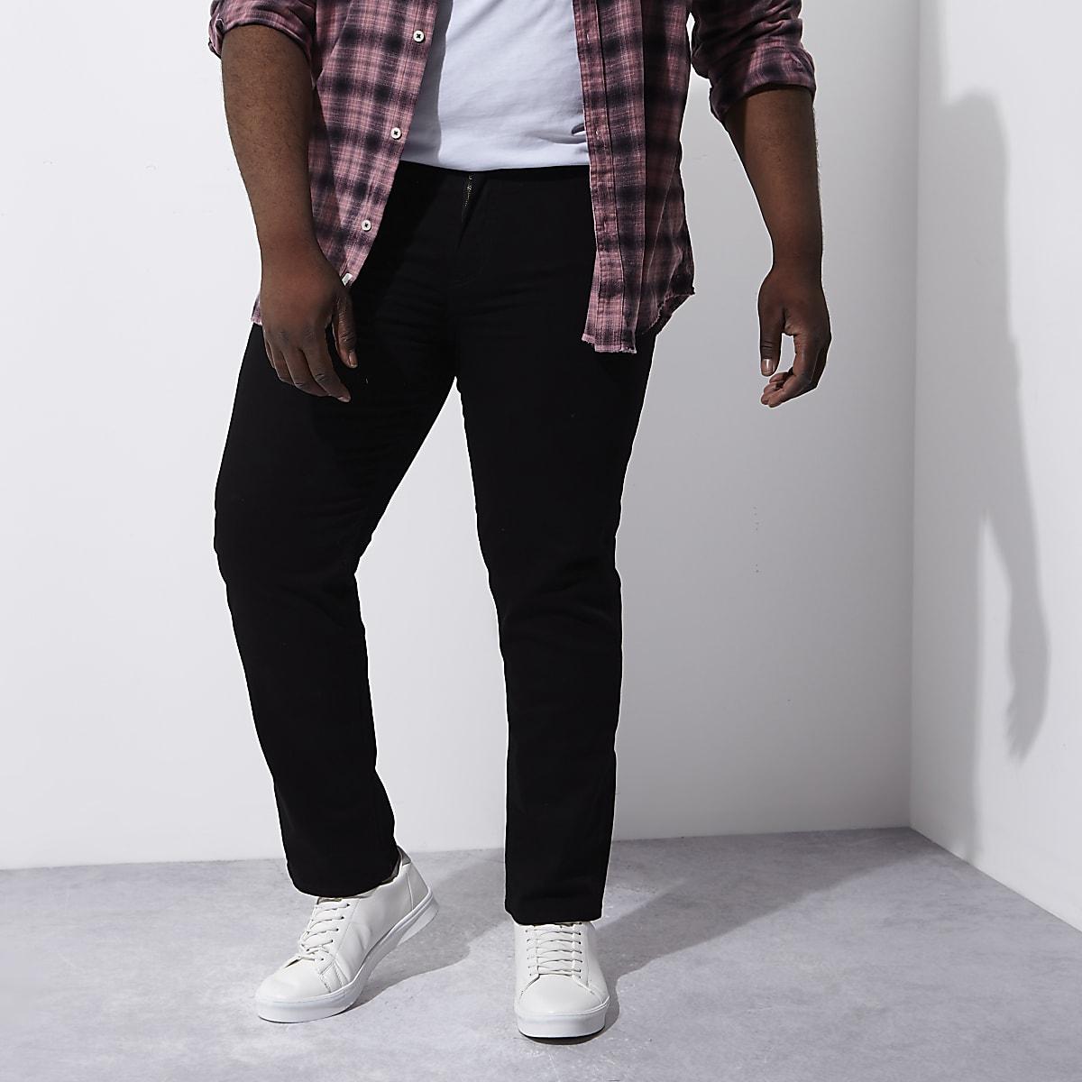 c89db3755bf48e Dean – Schwarze Straight Jeans Dean – Schwarze Straight Jeans ...