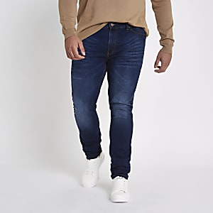 Big and Tall blue Sid skinny jeans