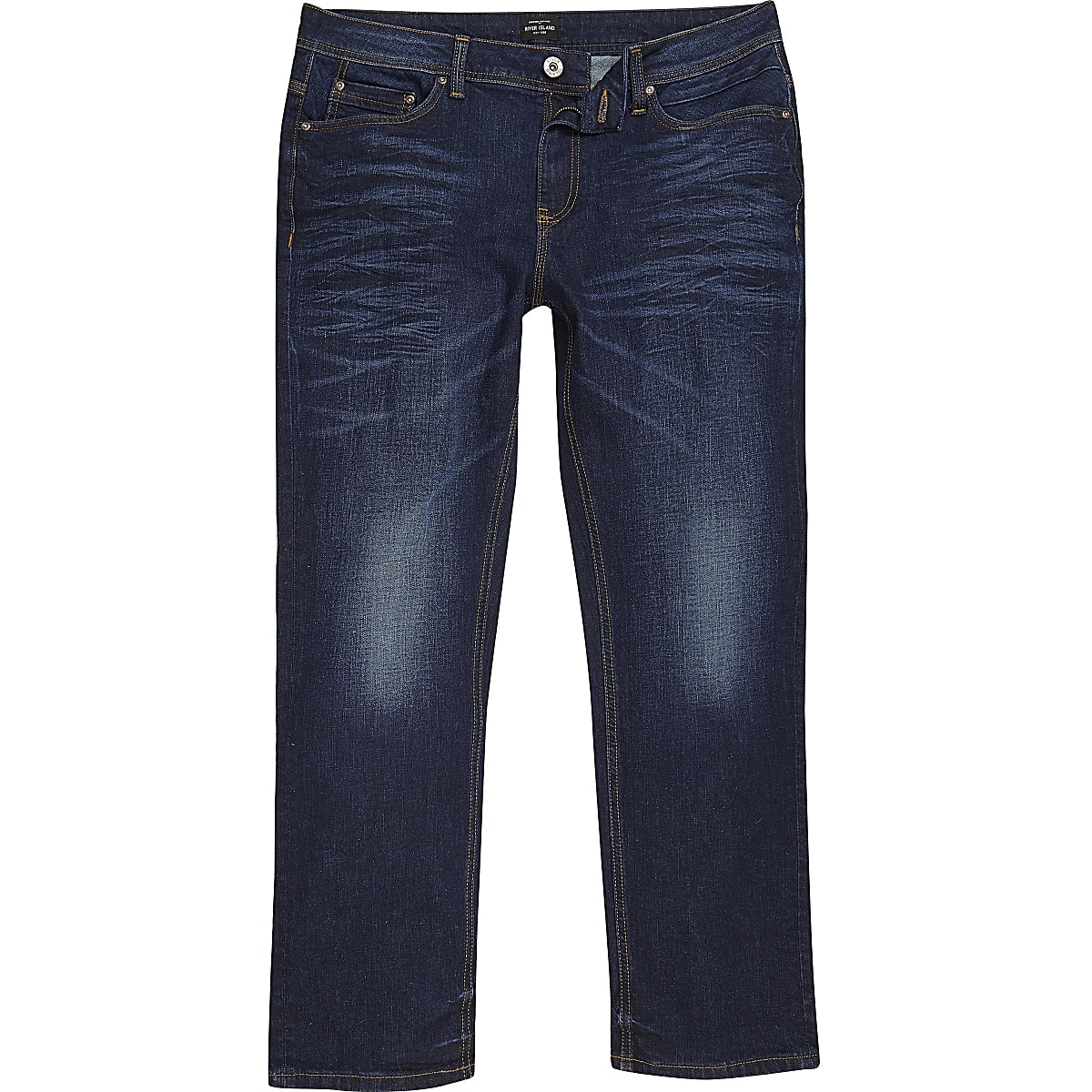 Big and Tall dark blue Clint bootcut jeans