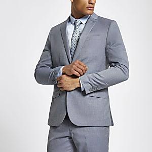 Hellblaue Slim Fit Anzugjacke