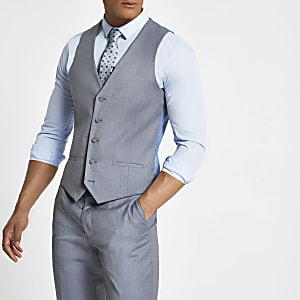Light blue suit vest
