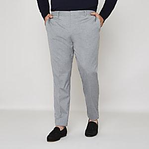 Big and Tall – Pantalon de costume slim gris