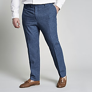Big and Tall blue suit pants